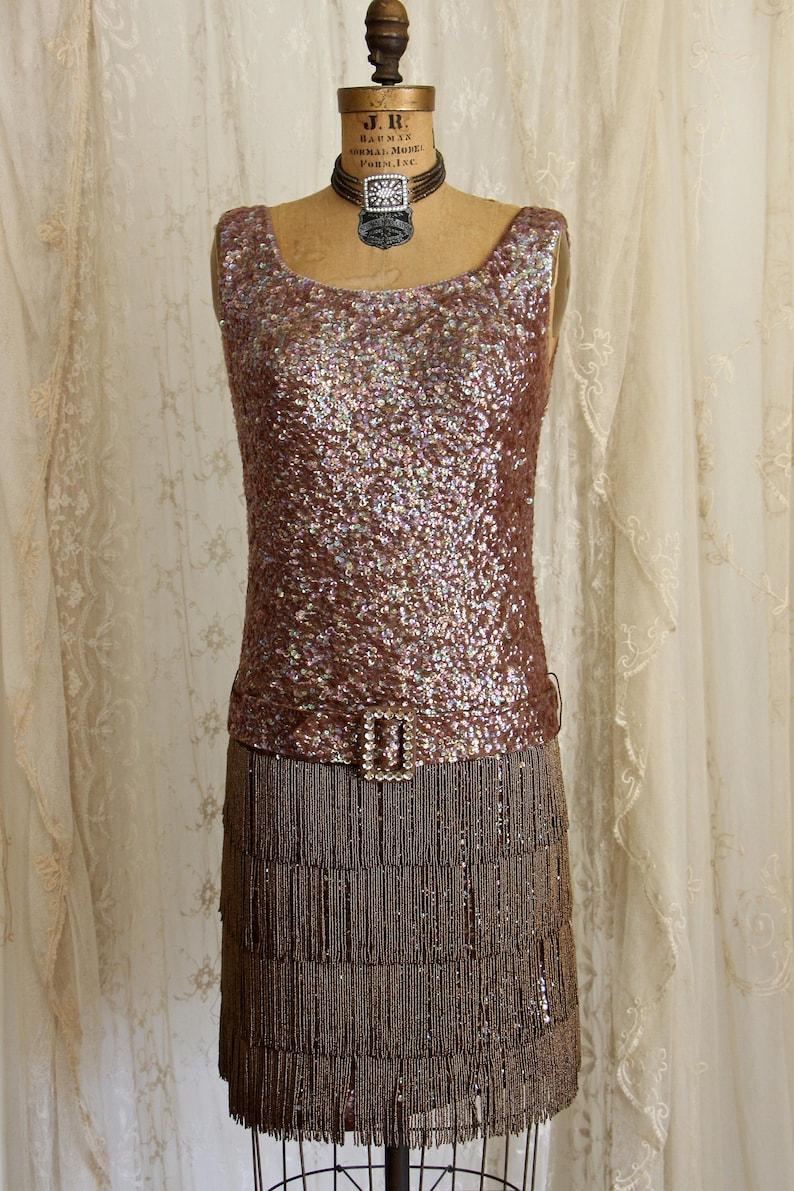 ee38c951e5c Exquisite Vintage Flapper Dress   Flapper Costume   Sequin