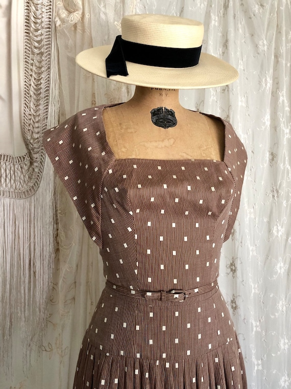 Vintage 1950s Halter Dress / Carolyn Schnurer / Pi
