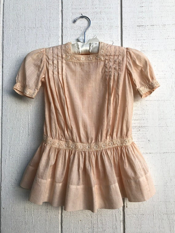 Antique Heirloom Girls Edwardian Dress