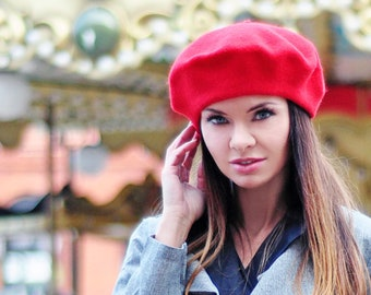 b74c75e0f1846 Wool BERET with antenna 29 colors