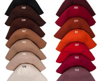 Wool felt body cones in 31 colors  Felt bodies for Millinery hat hood