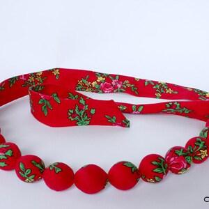 Folk bracelet corals HandMade scarf chaplet Zakopane Poland Slavic etno