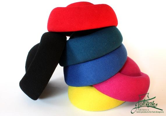 PillBox Wool felt hood body millinery block base hat  fedb97d318fa