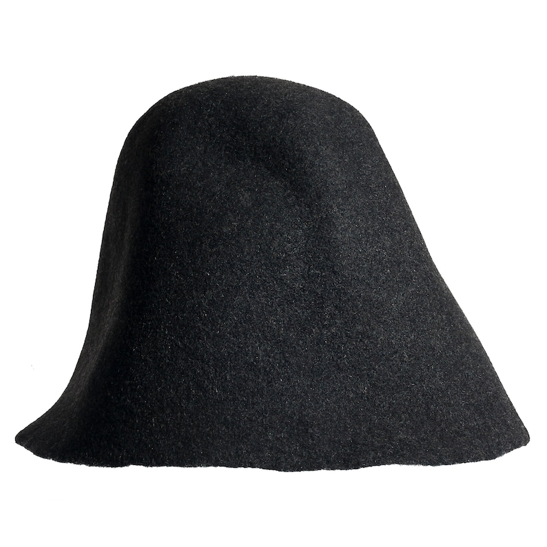 Black MELANGE wool felt body NEW COLOR cone for Millinery hat  7972db0244e6