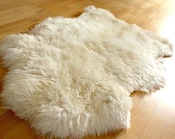 Brand New HUGE White Ivory Genuine Merino Sheepskin Fur Rug Carpet