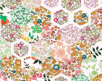 Liberty Fabric, Patchwork Stories C,  tana lawn fabric, available by the metre, half metre and fat quarter