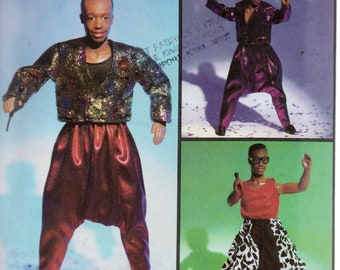 its hammer time simplicity pattern 7603 from rock express clothes for 12 mc  hammer doll b7a1c178864