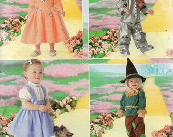 e3e346c16 Simplicity WIZARD of OZ Costumes Pattern 4024 DOROTHY Glinda Tin Man  Scarecrow Toddler Sizes 1/2 1 2 3 4