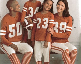 6f66fbb850 Simplicity Pattern 8521 FAMILY FOOTBALL PAJAMAS   Football Pillow All Sizes Child s  Teens Adults