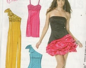 McCall 39 s Create It Pattern 6283 One Shoulder Strapless Pinched Skirt Empire Waist PARTY DRESSES Misses Sizes 6 8 10 12