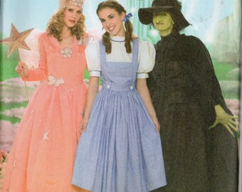 Wizard of Oz Simplicity Pattern 4136 DOROTHY GLINDA Wicked WITCH Misses Sizes 14 16 18 20 22