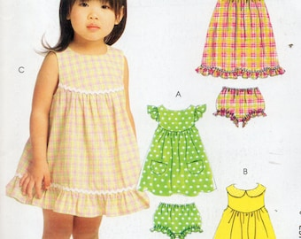 McCall's Easy Stitch 'n Save Pattern 5606 DRESS TOP PANTIES Child's Sizes 4 5 6