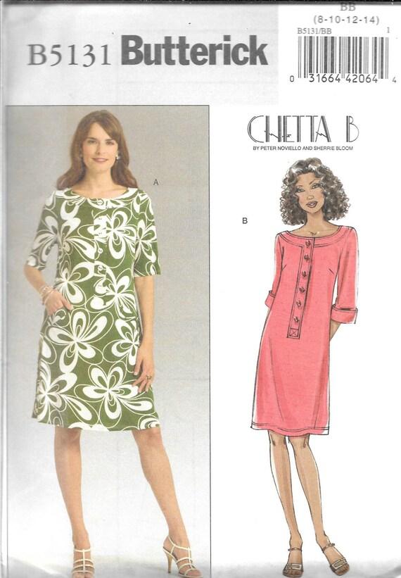Butterick CHETTA B Pattern 5131 A LINE DRESS Misses Sizes 8 10 12 14