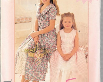 McCall's Easy Stitch 'n Save Pattern 8146 DRESS & PETTICOAT Child's Sizes 2 3 4 5 6