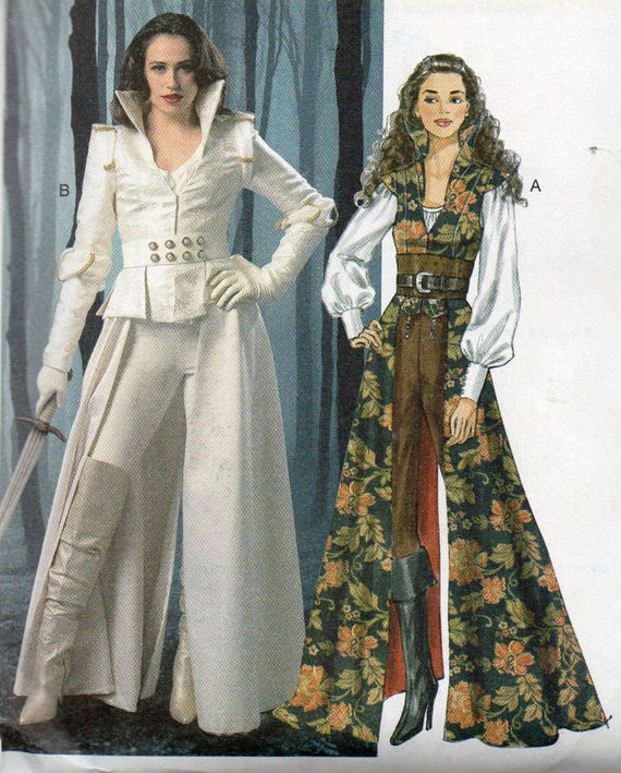 Once Upon A Time's SNOW WHITE Costume McCall's Pattern 6819 COAT Tops  Corset & Belt Misses Sizes 6 8 10 12 14
