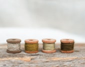 Stitching Thread, Set of 4, Naturally Dyed Sashiko Thread, Embroidery, Hand Stitching, Visible Mending, Hand Quilting, Thread