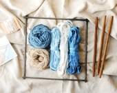 Frame Loom Weaving Kit, Weaver's Pack, Includes Loom, Frame Loom Weaving, Natural Dye, Fiber Bundle, Wool, Cotton, Botanical Dye, 0 Waste