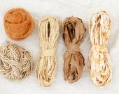 Weaving Kit, Frame Loom Weaving Supplies, 0 Waste, Natural Dye, Fiber Bundle, Wool, Cotton, Botanical Dye, Sustainable
