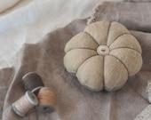 Pin Cushion, Pin Holder, 0 Waste Design, Handmade Pin Cushion, Olive + Slate, Natural Dye