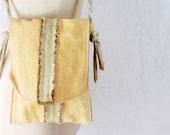 Handmade Bag, Reclaimed Fabric, 0 Waste, Minimalist Bag, Hip Bag, Fanny Pack, Botanical Dye