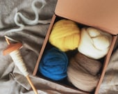 Wool Roving, Naturally Dyed Roving Pack, Weaving, Spinning, Botanical Dyes, Weaving Pack, Handspinning