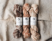 Handspun Alpaca Yarn, 50 Yard Skein, Homgrown Yarn, Handspun, Alpaca, Sustainable Textiles, Knitting, Crochet, Weaving, Soil to Skin