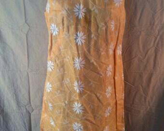60s Pastel orange Jackie Kennedy dress