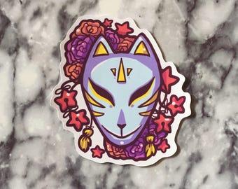 Kitsune mask - sticker