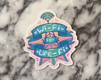 Wi-Fi for Life-Fi sticker