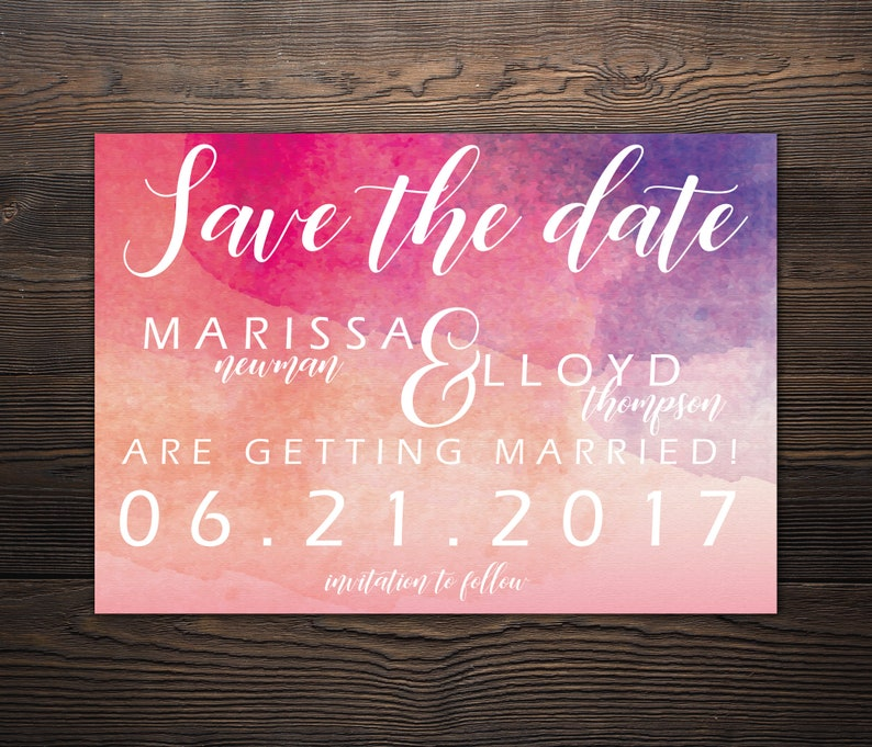 Watercolor Save the Date *DEPOSIT*