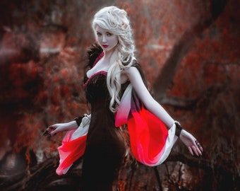 Sale! Ready to ship Witch Gothic costume Goddess Gothic wedding dress  Night gown Fairytale Dress Cosplay Pagan Wicca Mermaid dress