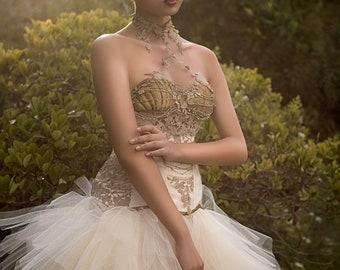 Last One! Greek goddess corset Fantasy Couture Fantasy Costume Lingerie Romantic  Burlesque Showgirl Cosplay Stage wear Honeymoon