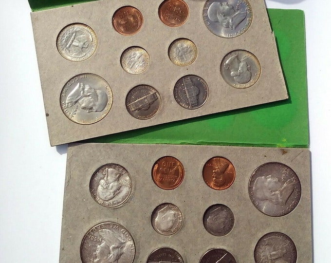 """RARE! 1958 United States """"P"""" and """"D"""" Uncirculated Double Mint Set - 20 Coin Set, Coin Collection"""