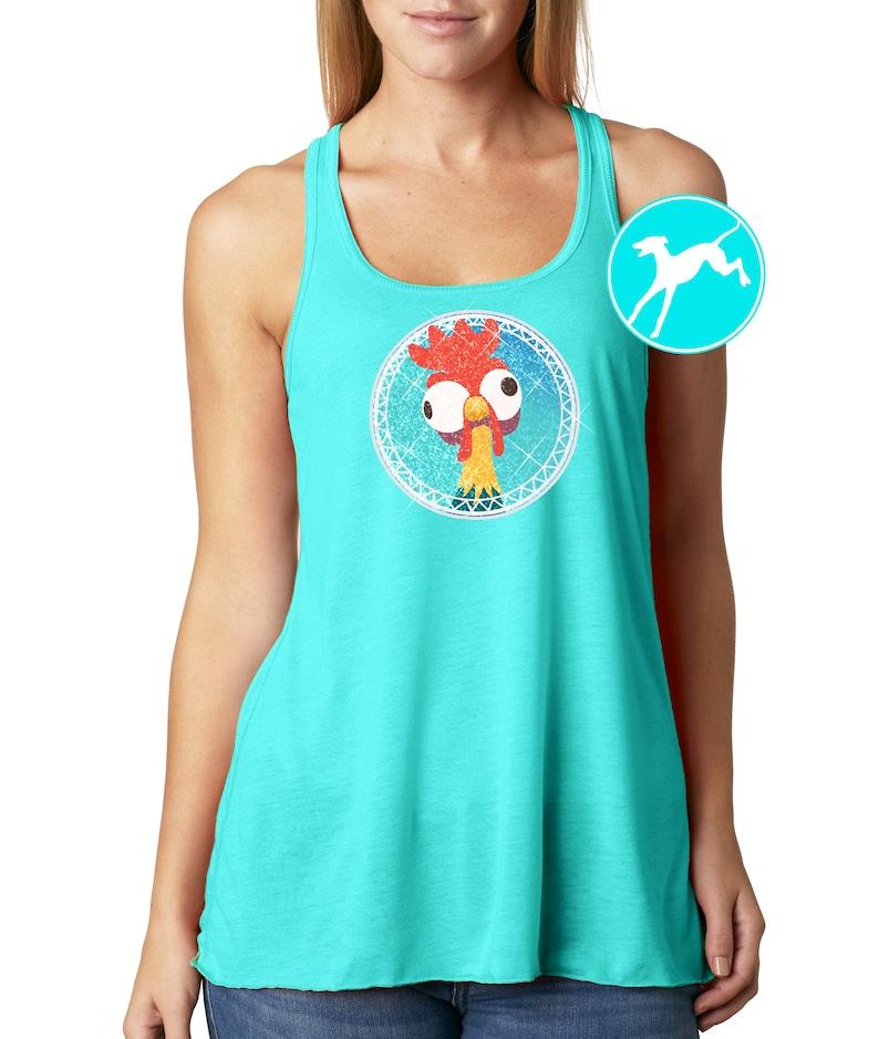77d6ff545 Disney Moana Hei Hei Rooster glitter princess Tank Shirt Top | Etsy
