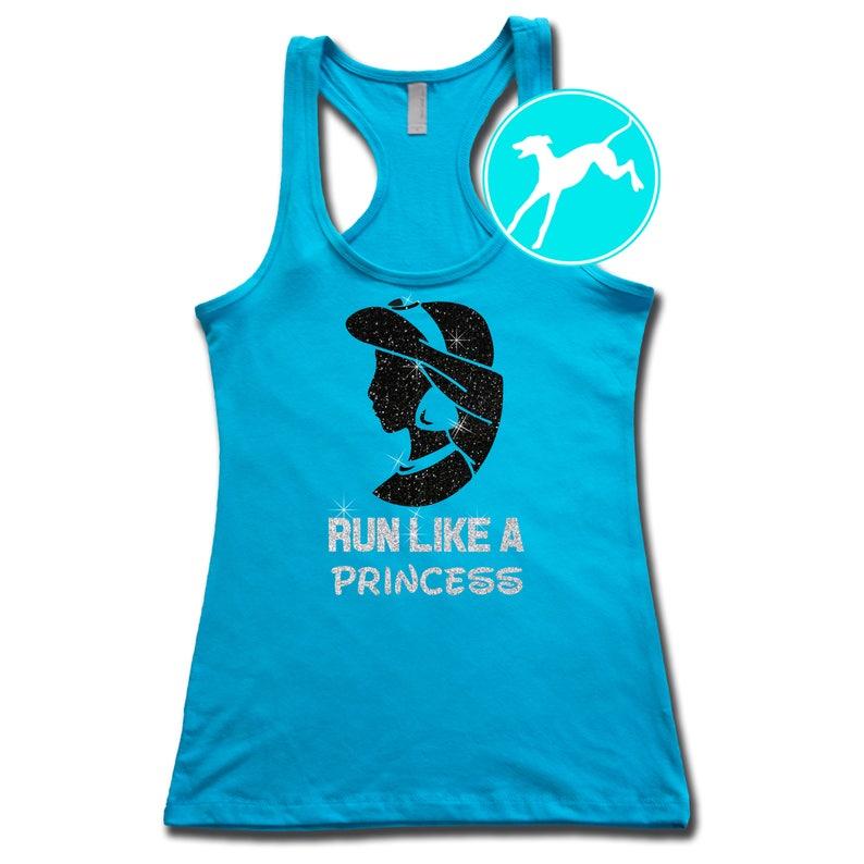 7b1a2551a2 Disney Jasmine Run Like a Princess Blue Tank Shirt Top | Etsy