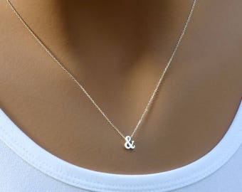 And Symbol Necklace, Sterling silver or Gold filled, Ampersand Necklace, Dainty Necklace, And Necklace, Layering Necklace, Symbol Necklace