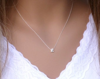 100% Sterling Silver Initial Necklace, Dainty Necklace, Lowercase letter, Everyday Necklace, Letter Necklace, Initial Jewelry