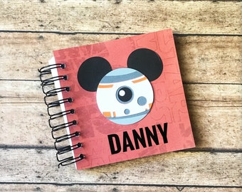 Disney BB8 Autograph Book | Star Wars | Vacation | Travel | Scrapbook | Character