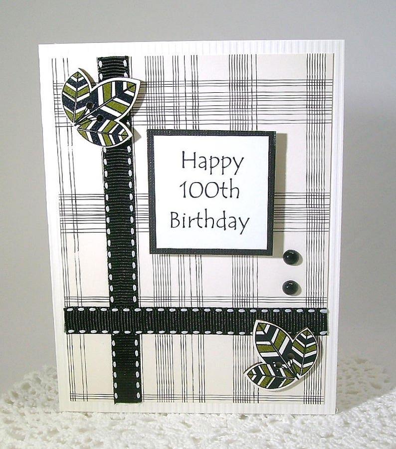 100th Birthday Card 100 Year Happy One