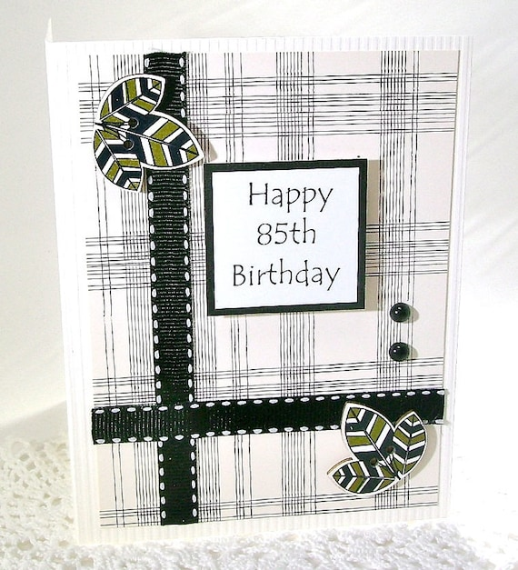 85th Birthday Card 85 Year Happy Best
