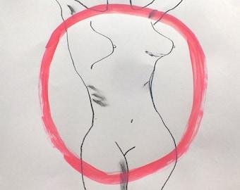 The Naked Circle (A3 original drawing)