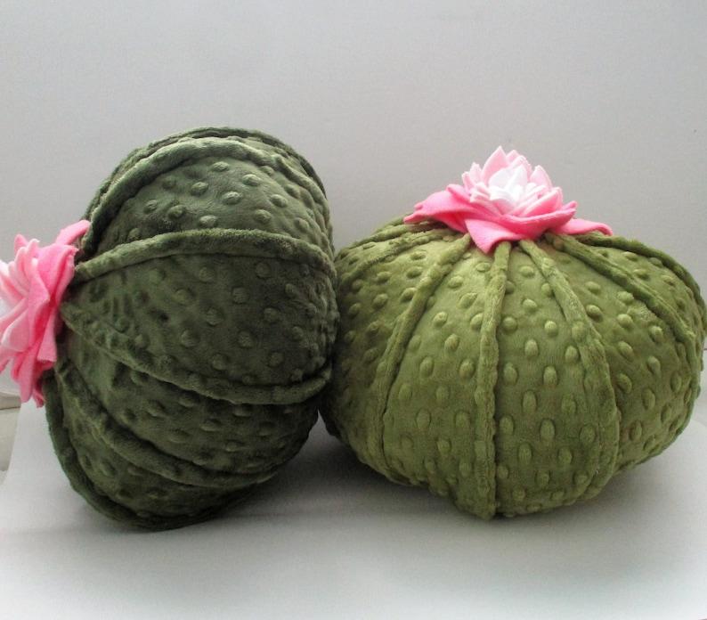 Round cactus pillow succulent pillow plush cactus