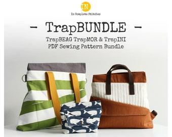 TrapBUNDLE - TrapINI and TrapBEAG TrapMOR Digital PDF Sewing Patterns - ENGLISH