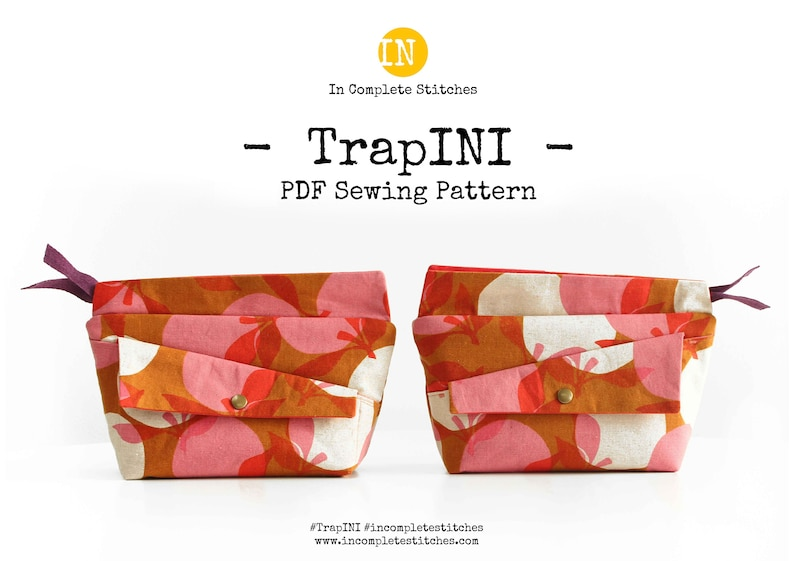 TrapINI Digital PDF Sewing Pattern  ENGLISH image 1