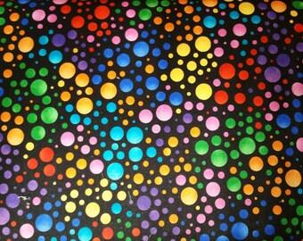QT Carnivale multi colored dots
