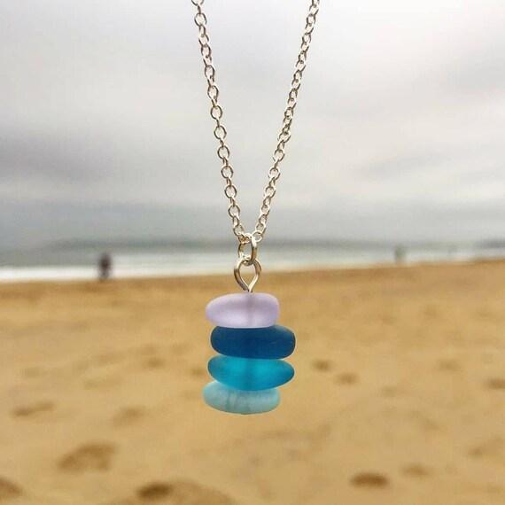 Sea Glass Vial Pendant Necklace Beach Glass Mother\u2019s Day Sea Glass Jewelry Beach Jewelry Sea Glass Sea Glass Pendant Vial Necklace
