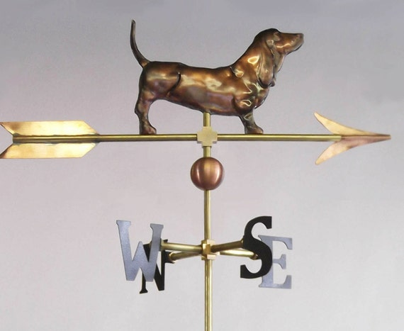 Roof Mounting Included Basset Hound Weathervane