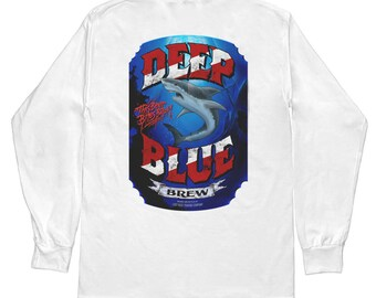 Diver Shark T Shirt Amphibious Outfitter Style White Long Sleeve by Lost Reef Sizes S M L XL 2XL 3XL