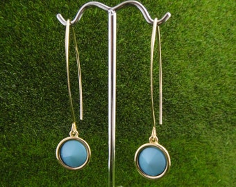 Golden Arched Turquoise earring