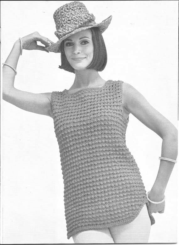 womens knitting pattern knit top bulky yarn long shell etsy Cream Cable Knit Sweater 50